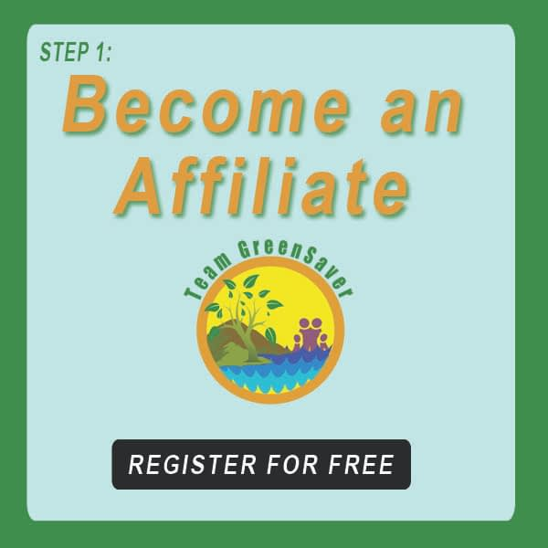 """Blue-green button next to EA101 logo showing sunlight nature with family, and words that say, """"Become an Affiliate"""""""