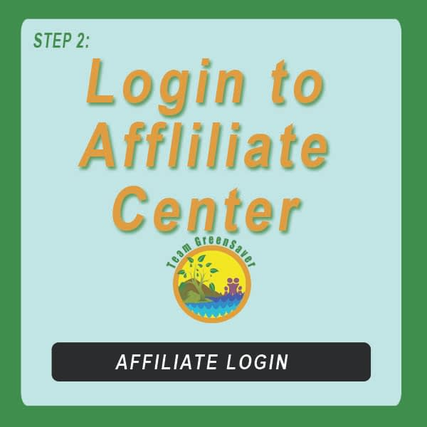 """Blue-green button next to EA101 logo showing sunlight nature with family, and words that say, """"Login to Affiliate Center"""""""